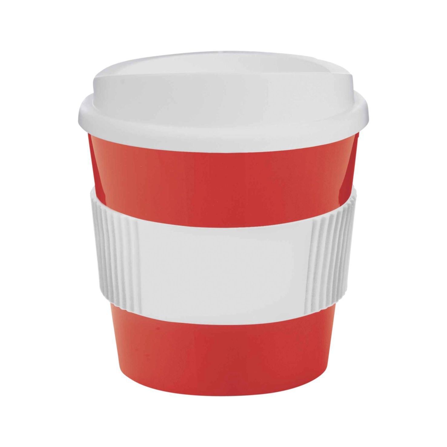 Rood / wit Coffee to go beker | 250 ml