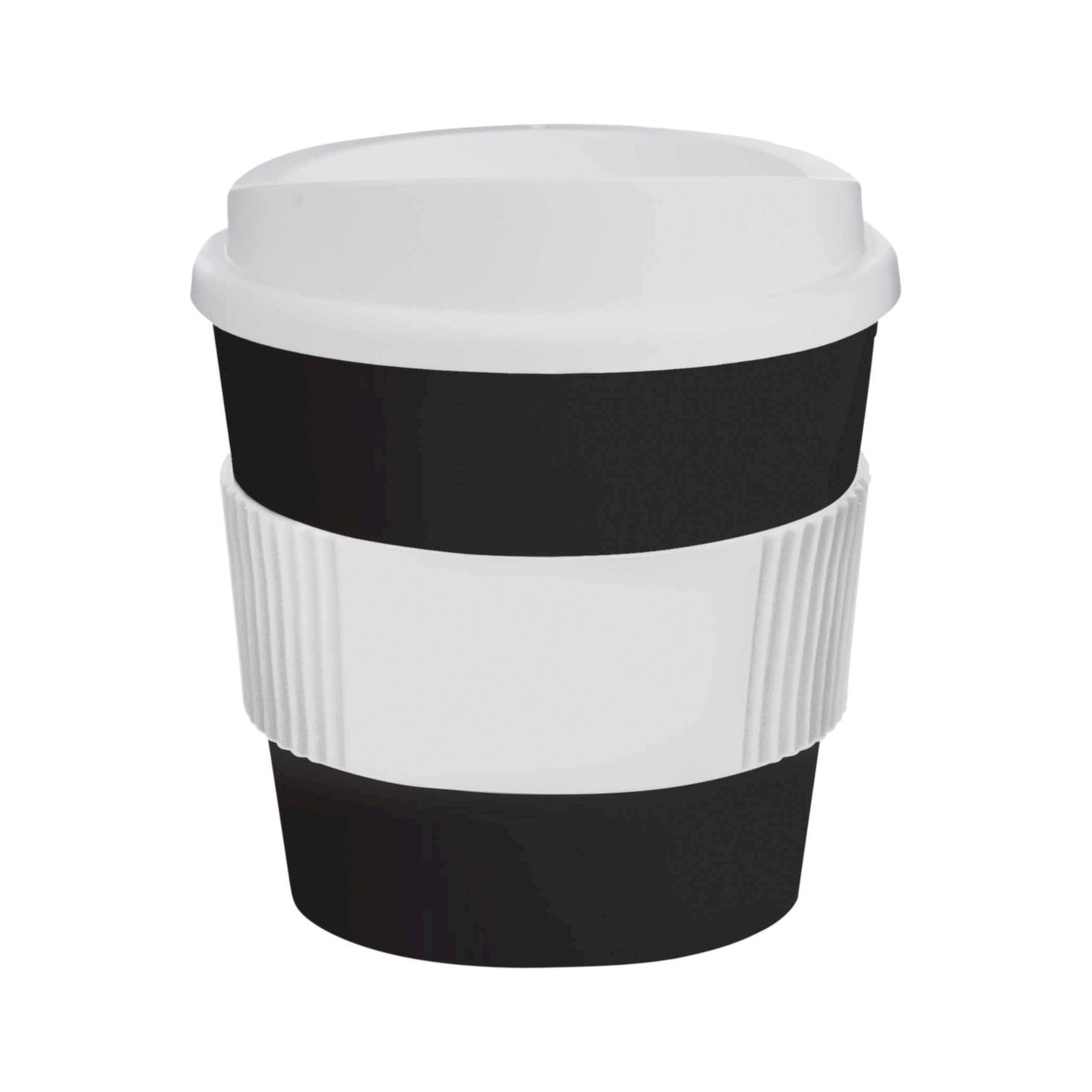 Zwart / wit Coffee to go beker | 250 ml