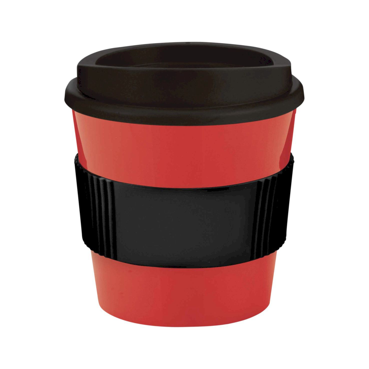 Rood / zwart Coffee to go beker | 250 ml