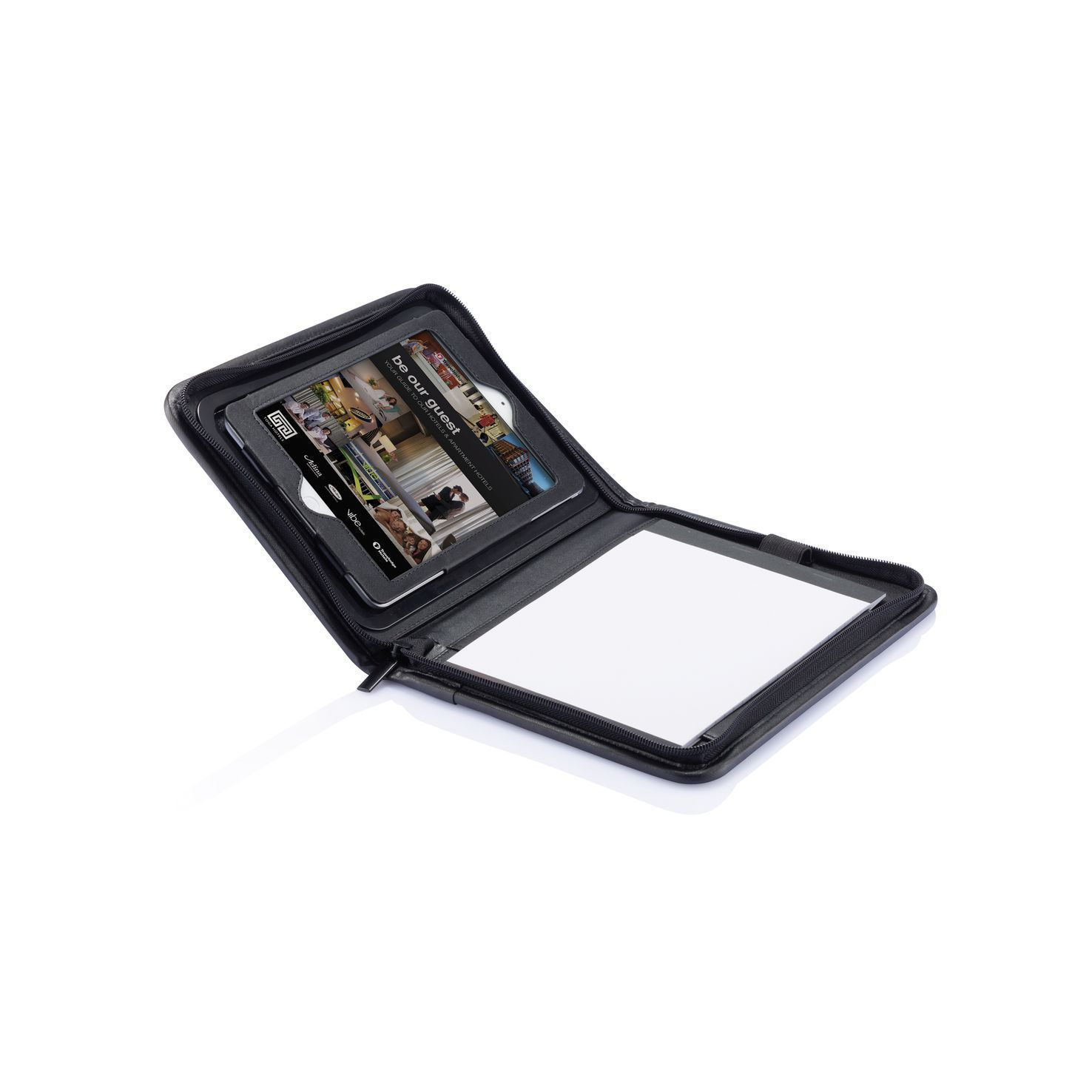 Zwarte iPad mini tablethouder | Roterend