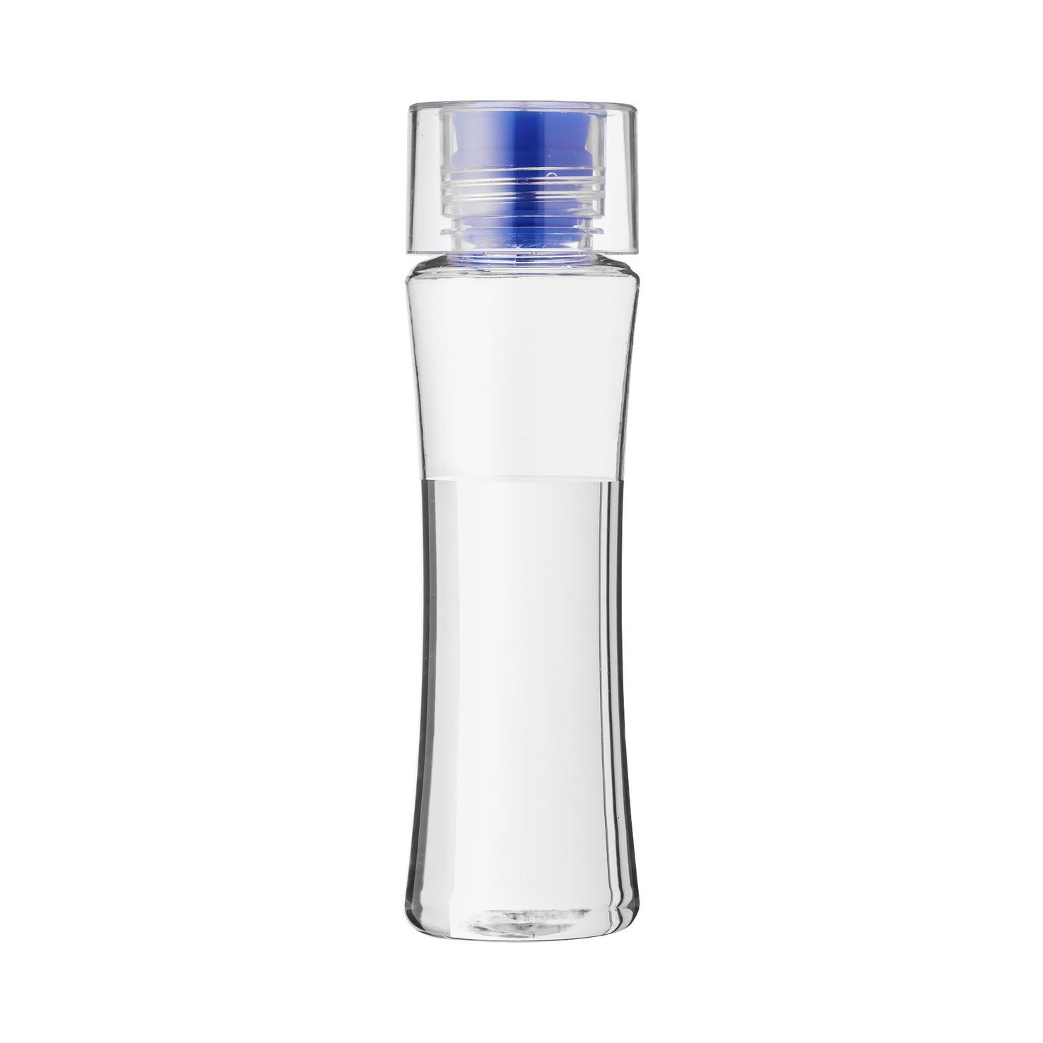 Transparant / blauw Waterfles | Enkelwandig | 650 ml