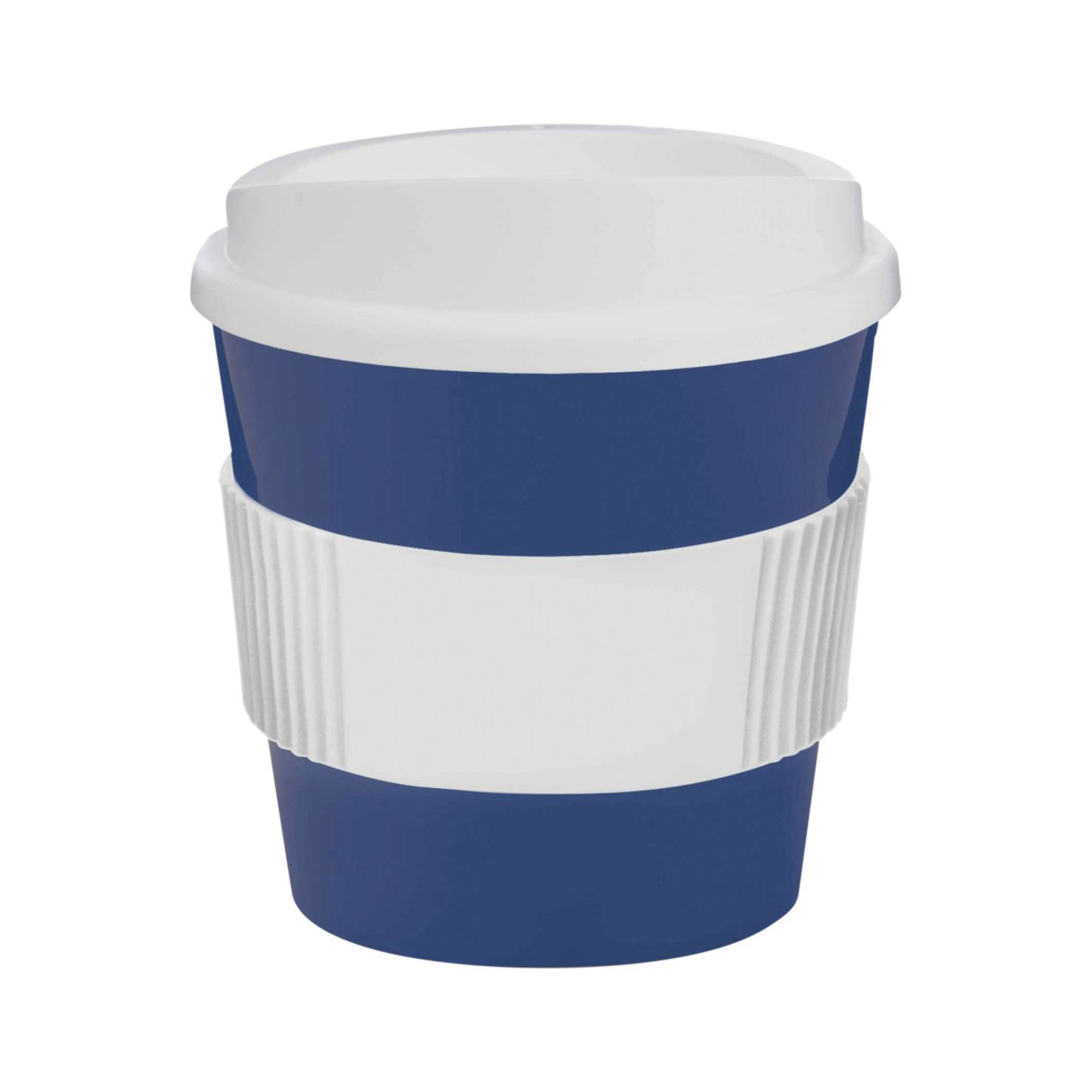 Blauw / wit Coffee to go beker | 250 ml
