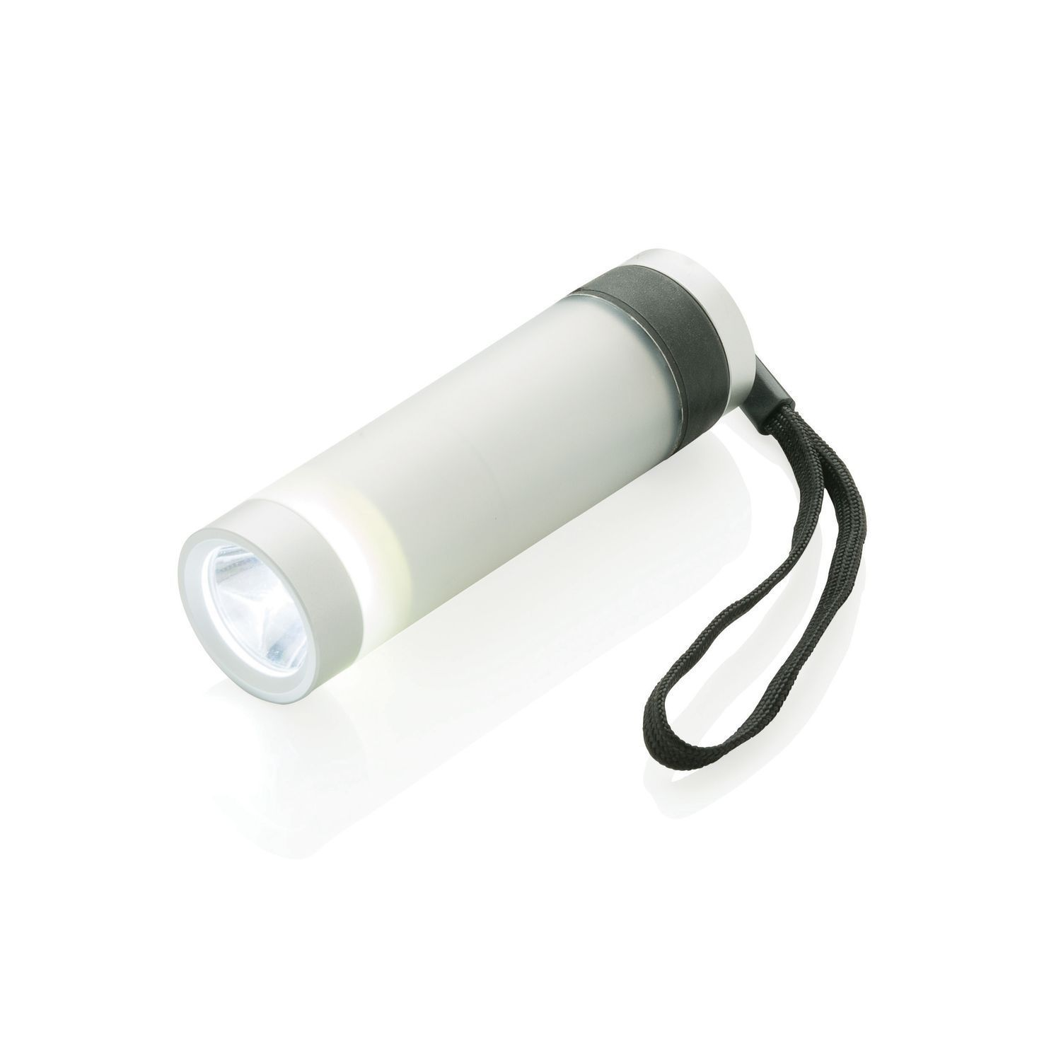 Zilvere LED zaklamp | 2-delige