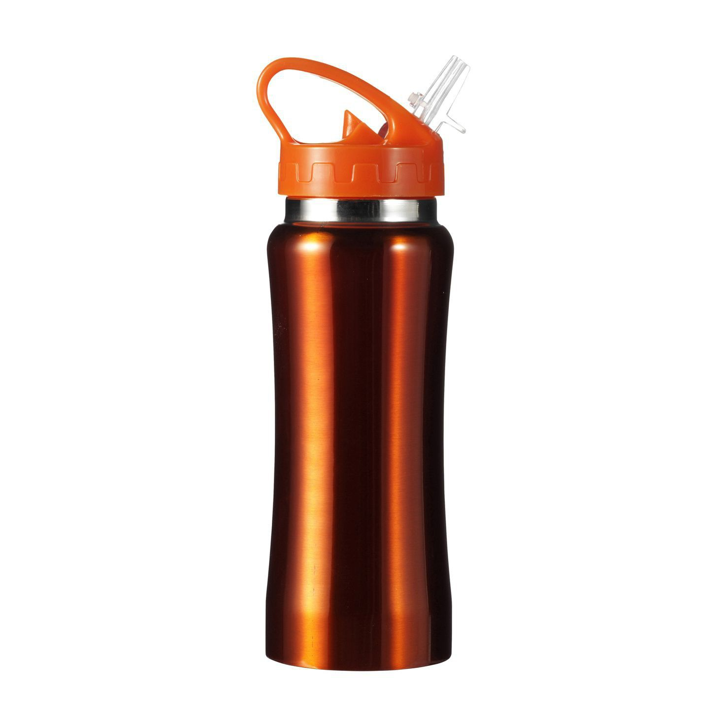 Oranje RVS drinkfles | 600 ml