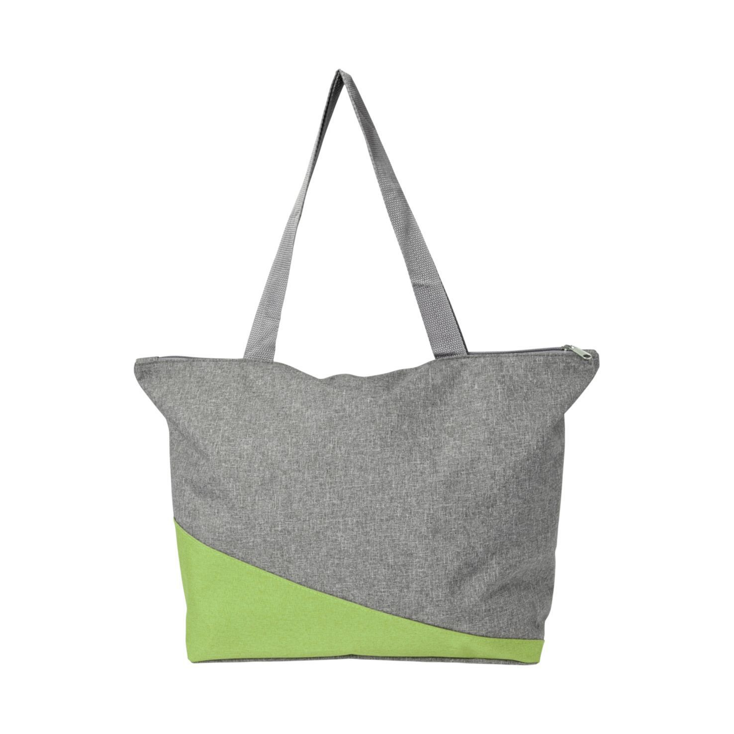Lime Canvas shopper | Met rits