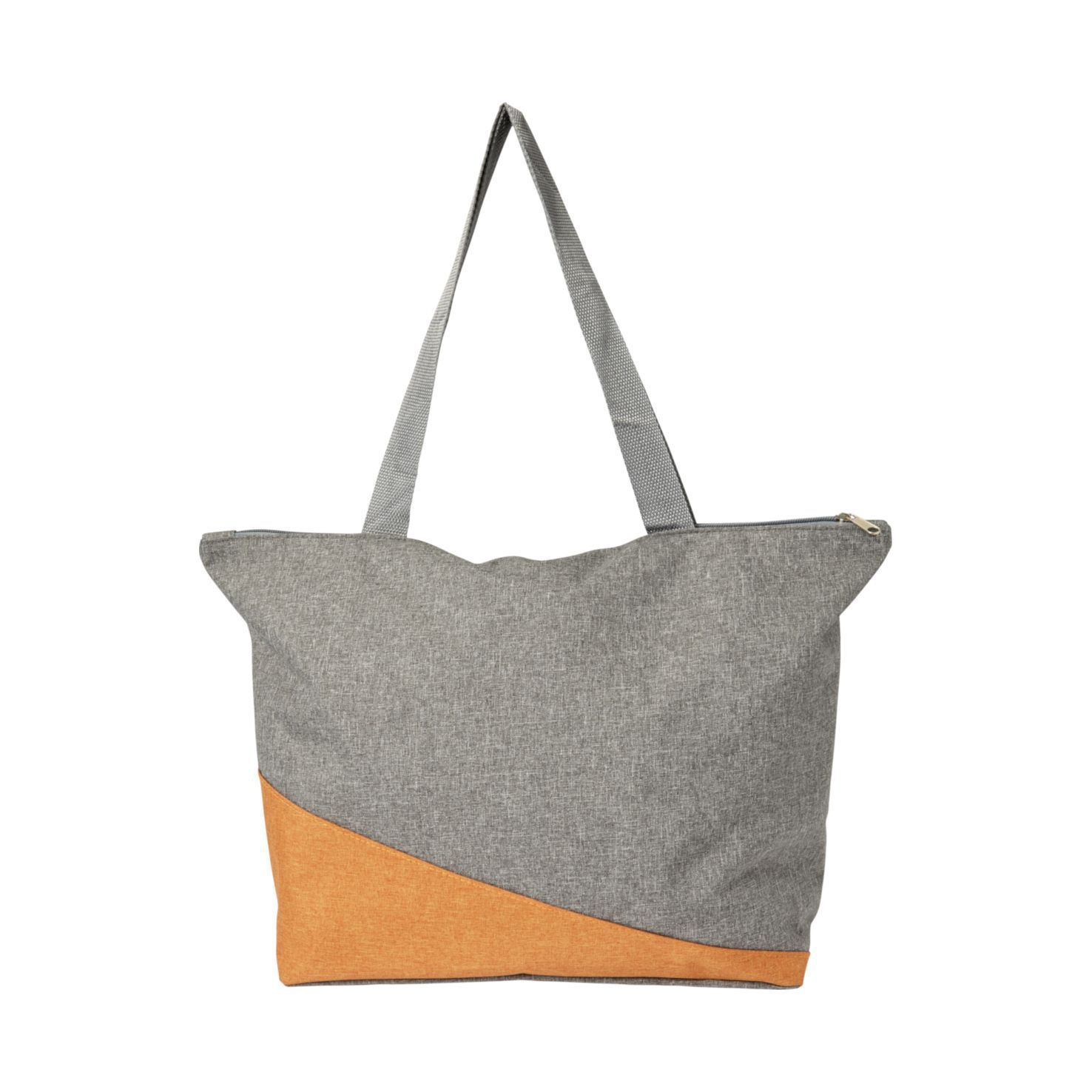 Oranje Canvas shopper | Met rits