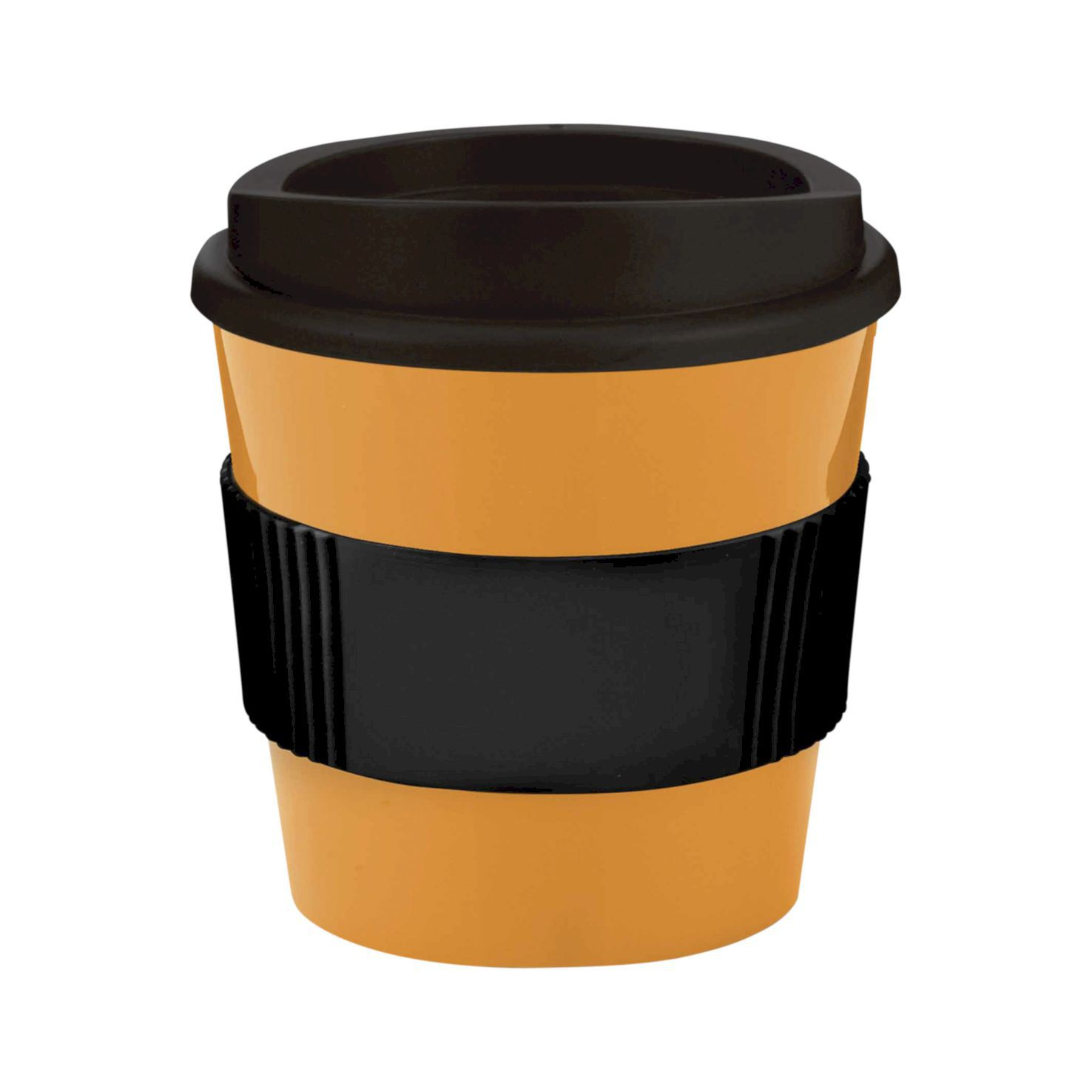Oranje / zwart Coffee to go beker | 250 ml