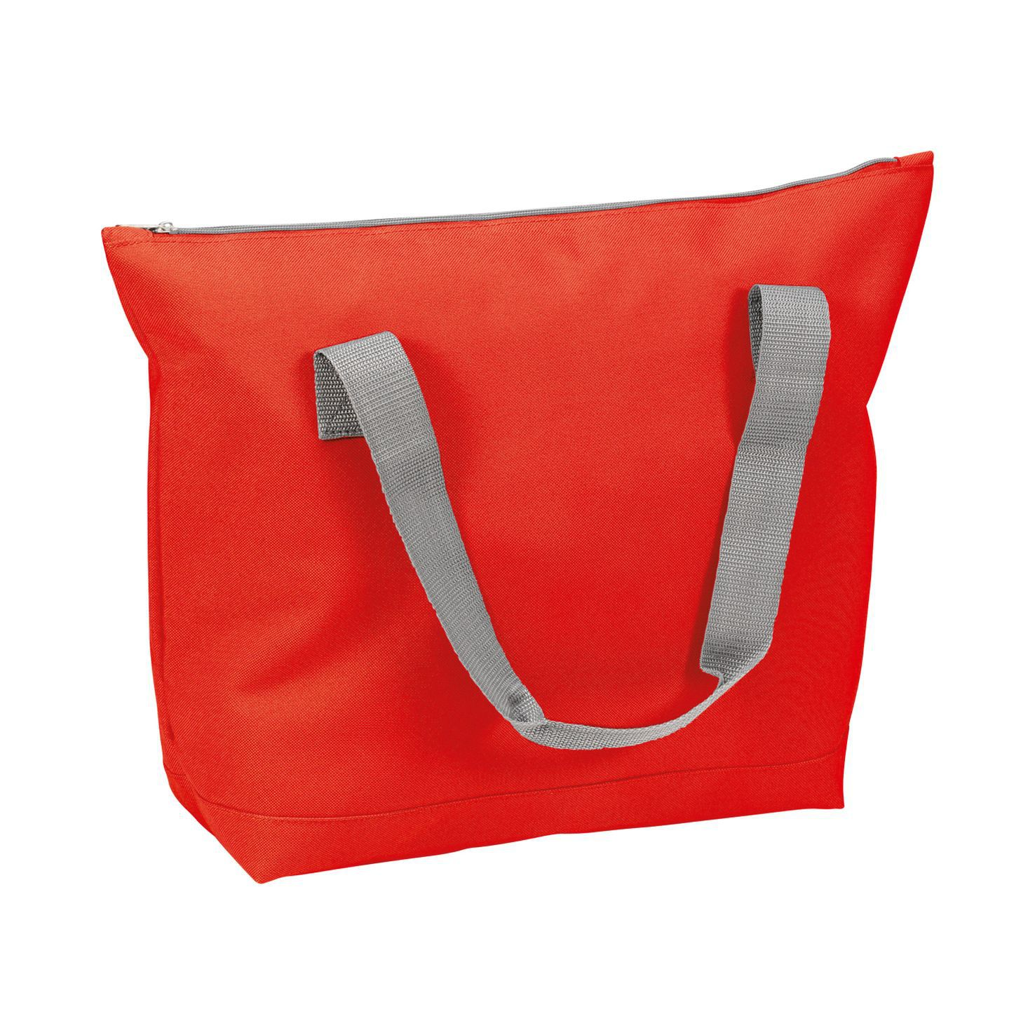 Rode Shopper met rits | Polyester