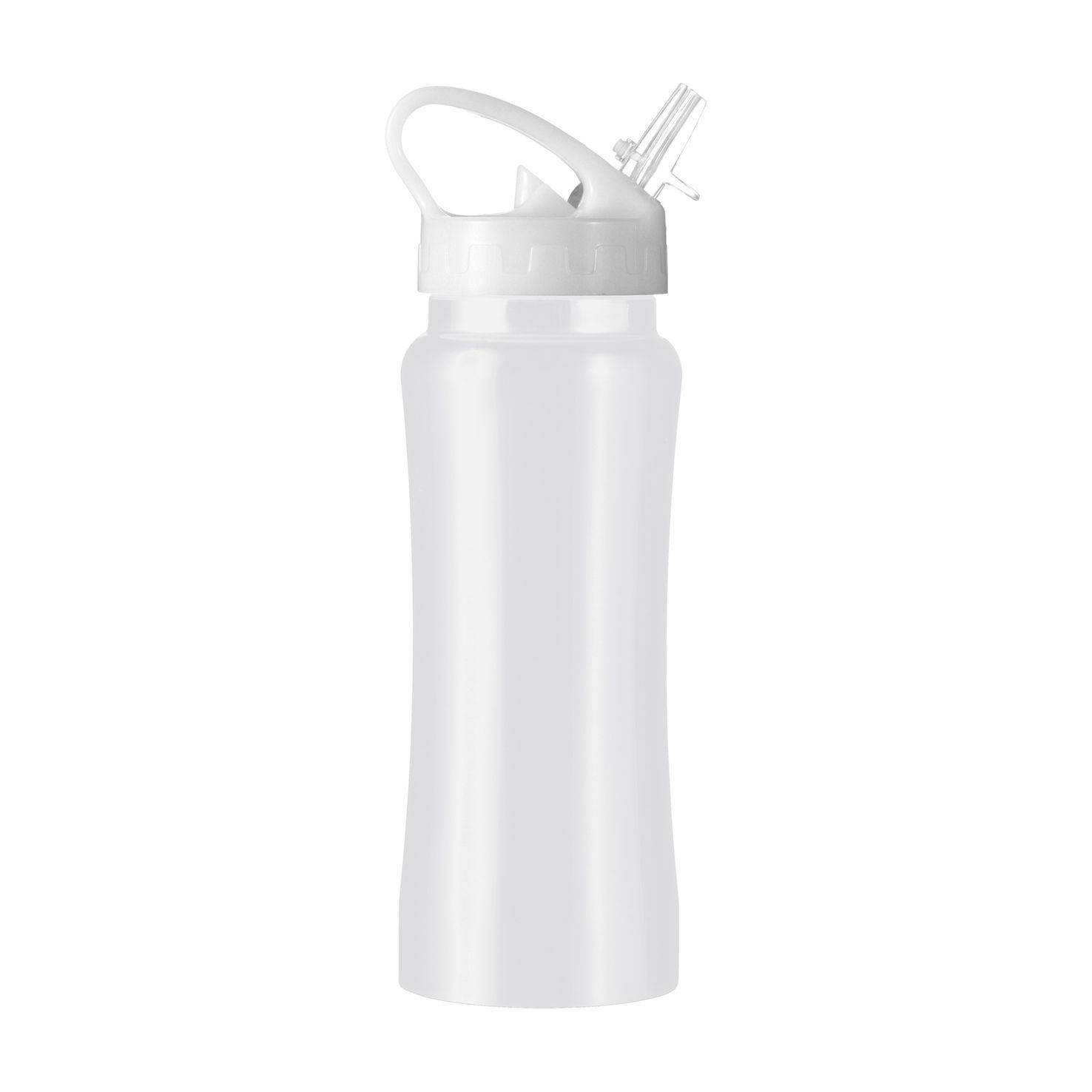 Witte RVS drinkfles | 600 ml
