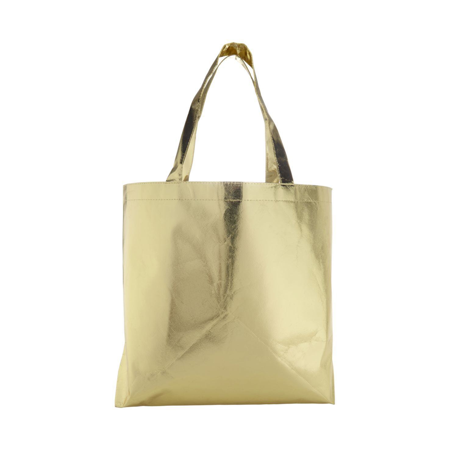 Goude Metallic tas | Non woven | Gelamineerd | 80 grams
