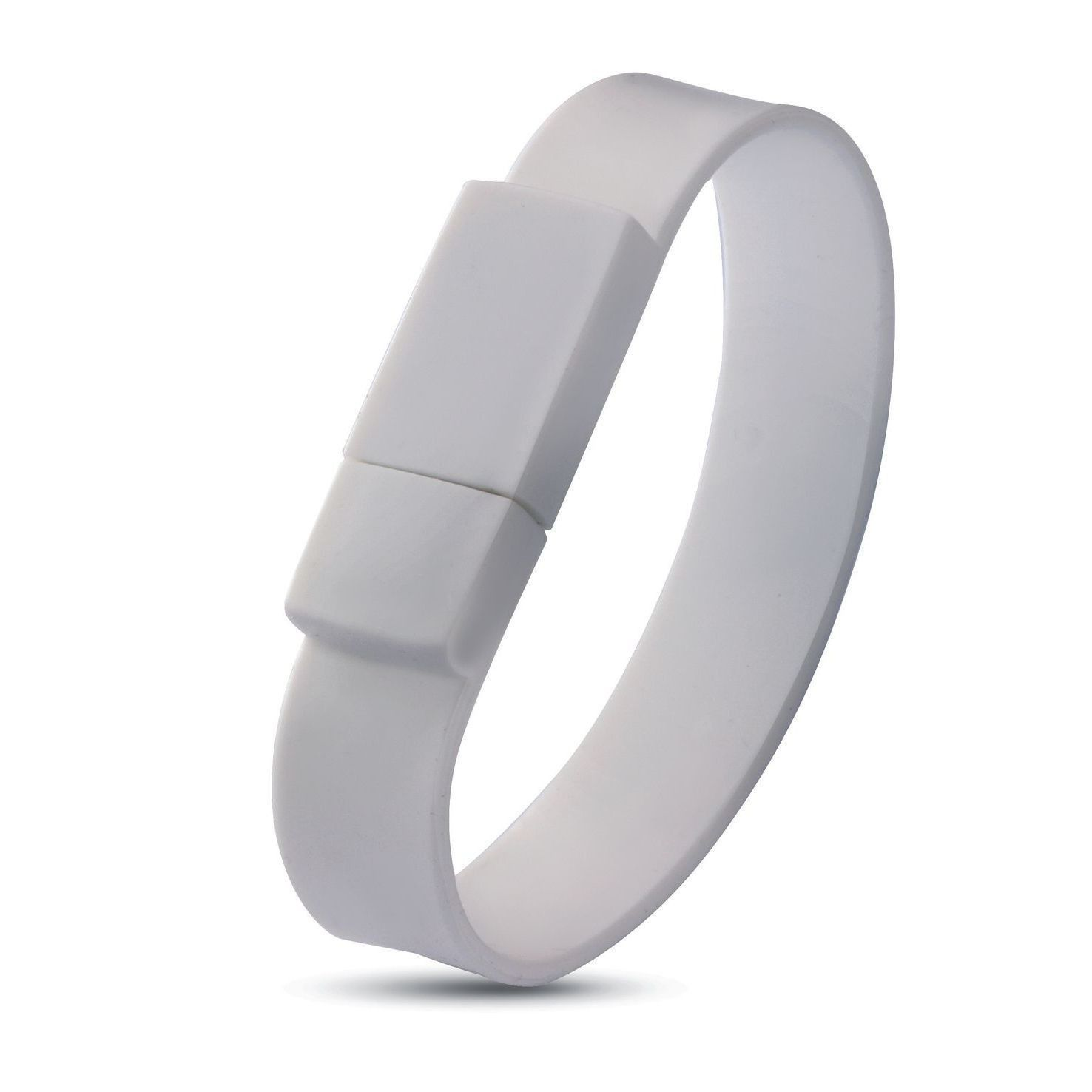 Witte USB armband 8GB