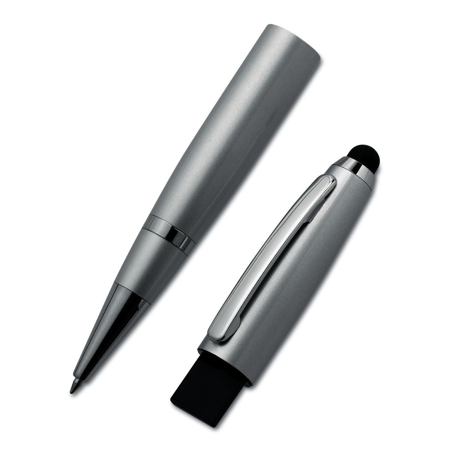 Zilvere USB pen | Touch | 4GB