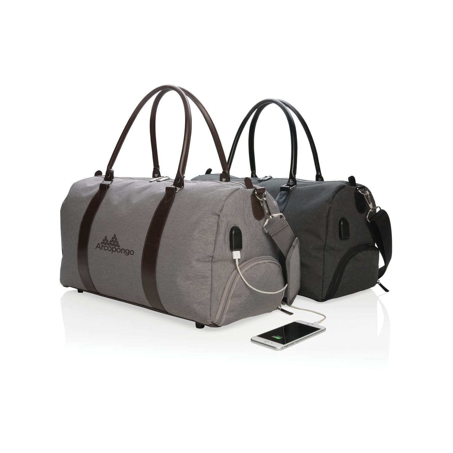 Luxe weekendtas | USB output | Polyester | 20 L