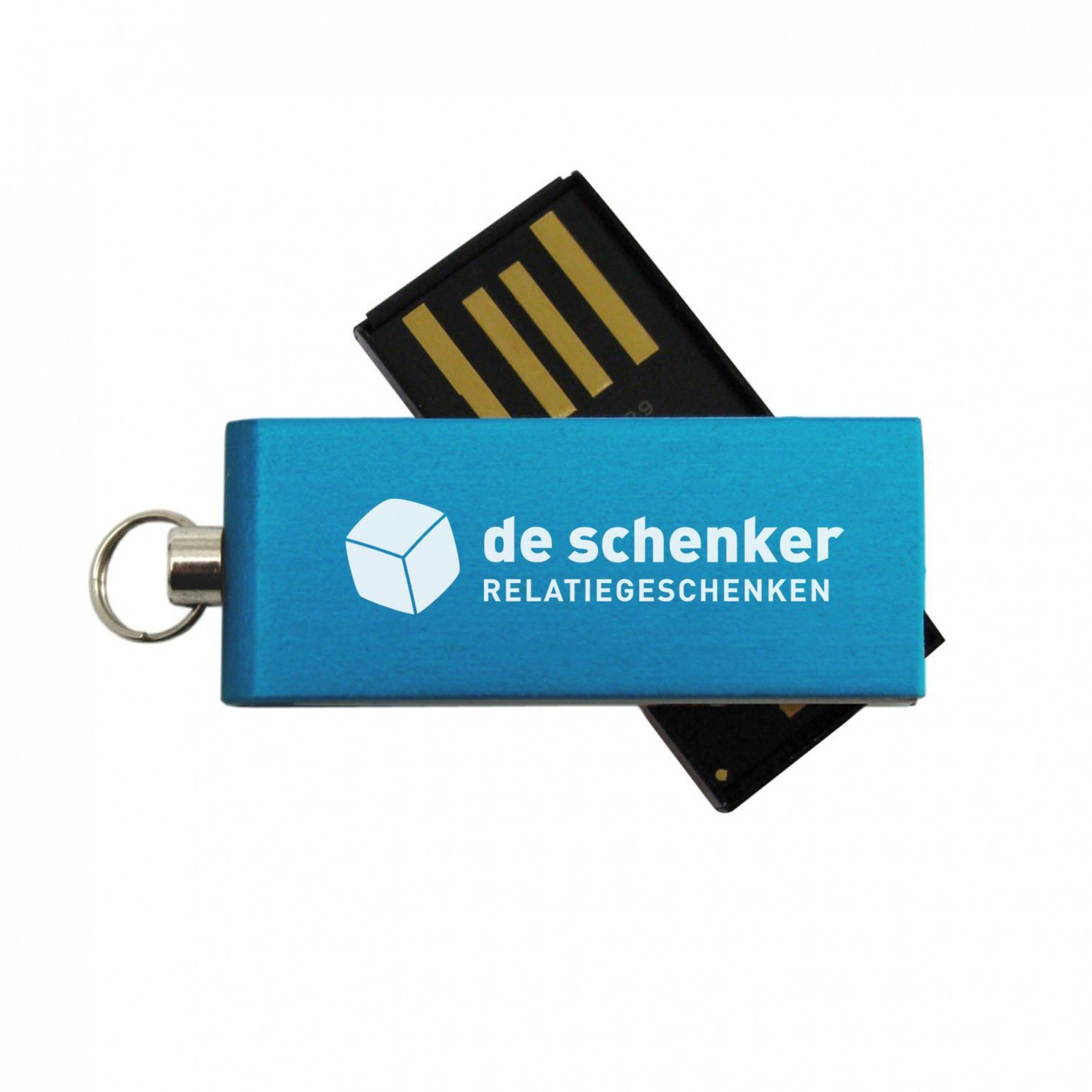 Blauwe Micro USB stick 2GB