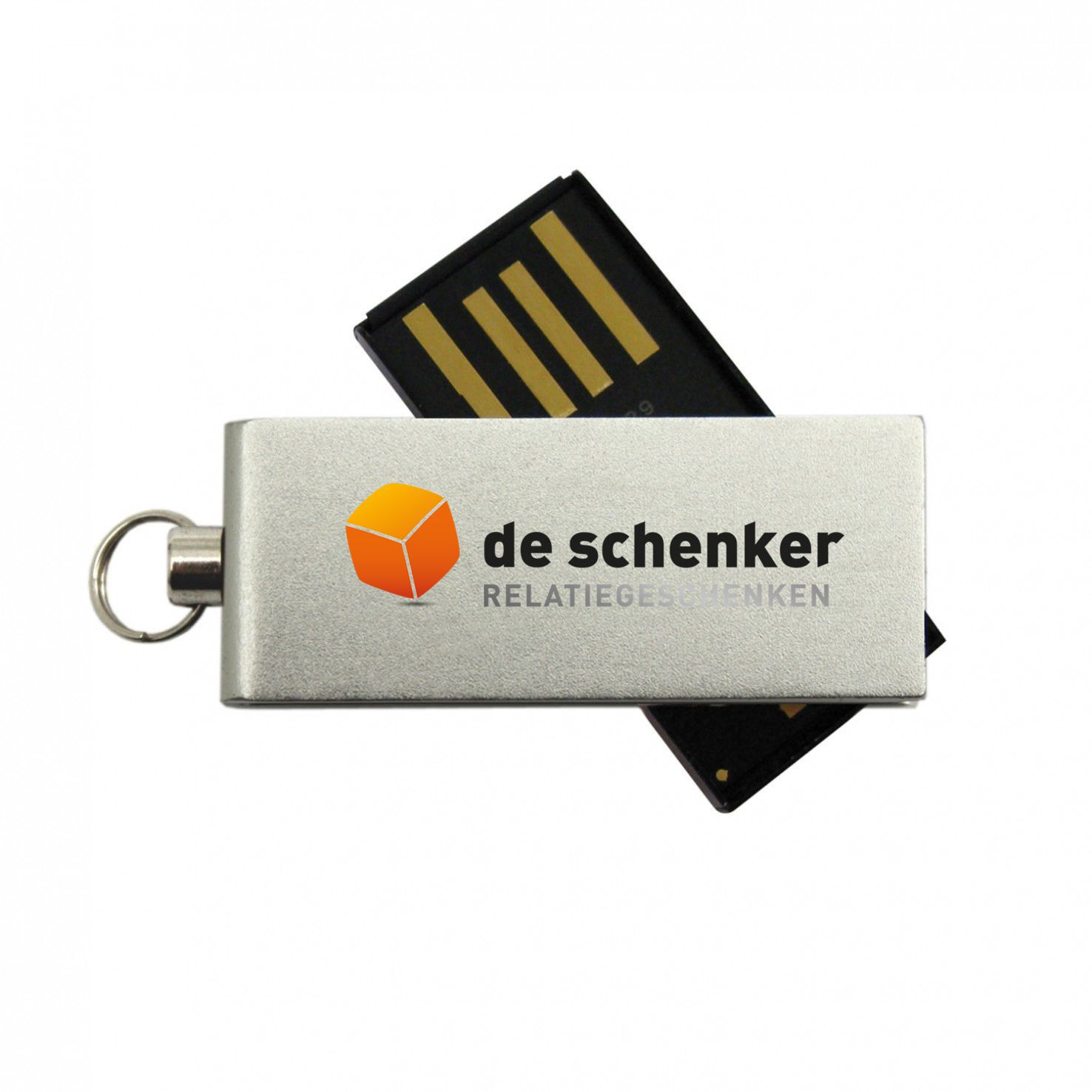 Zilvere Micro USB stick 2GB