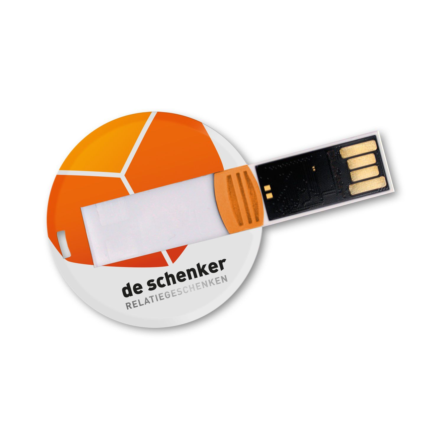 Witte USB creditcard | Rond | 4GB