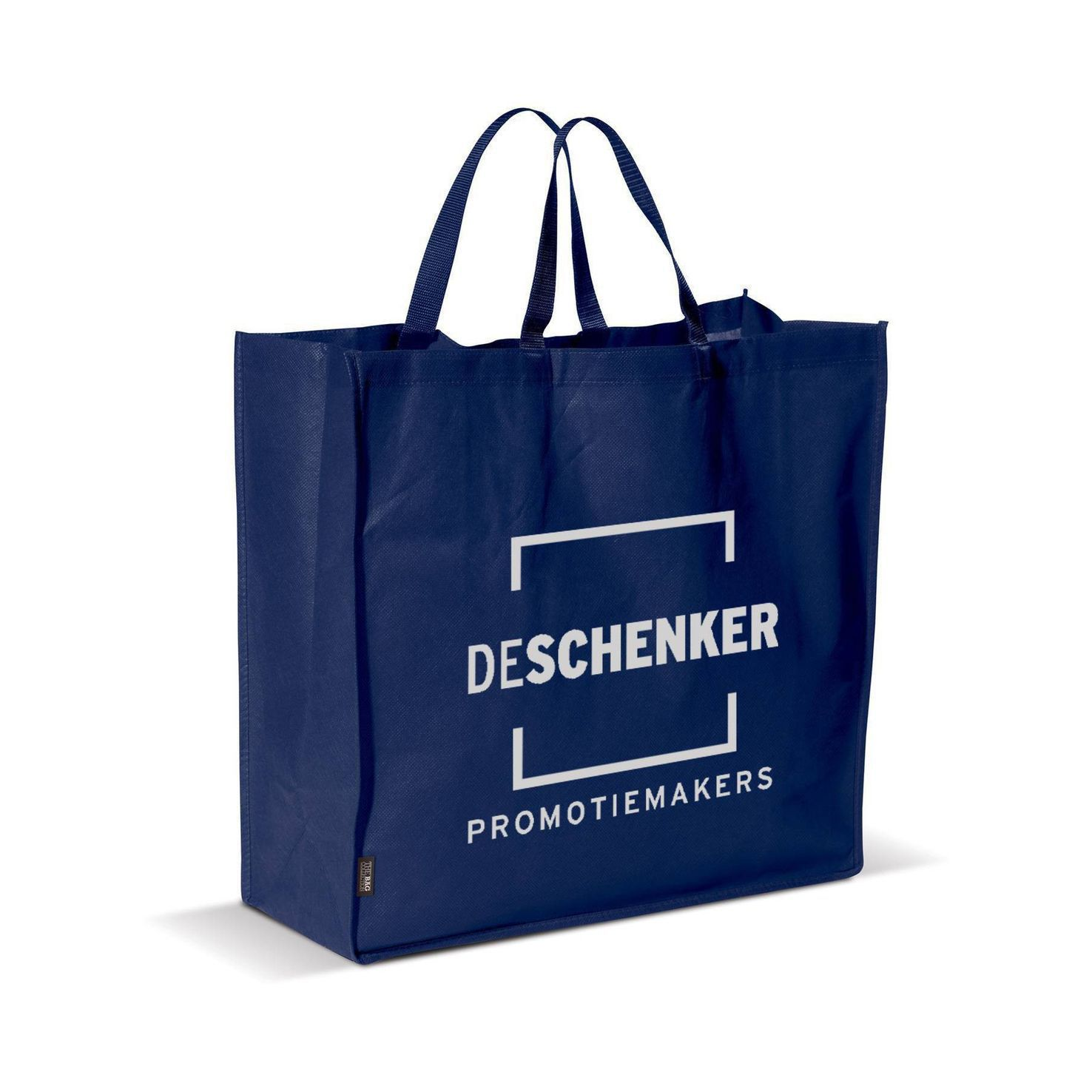 Donkerblauwe Big shopper | Non woven | 75 grams