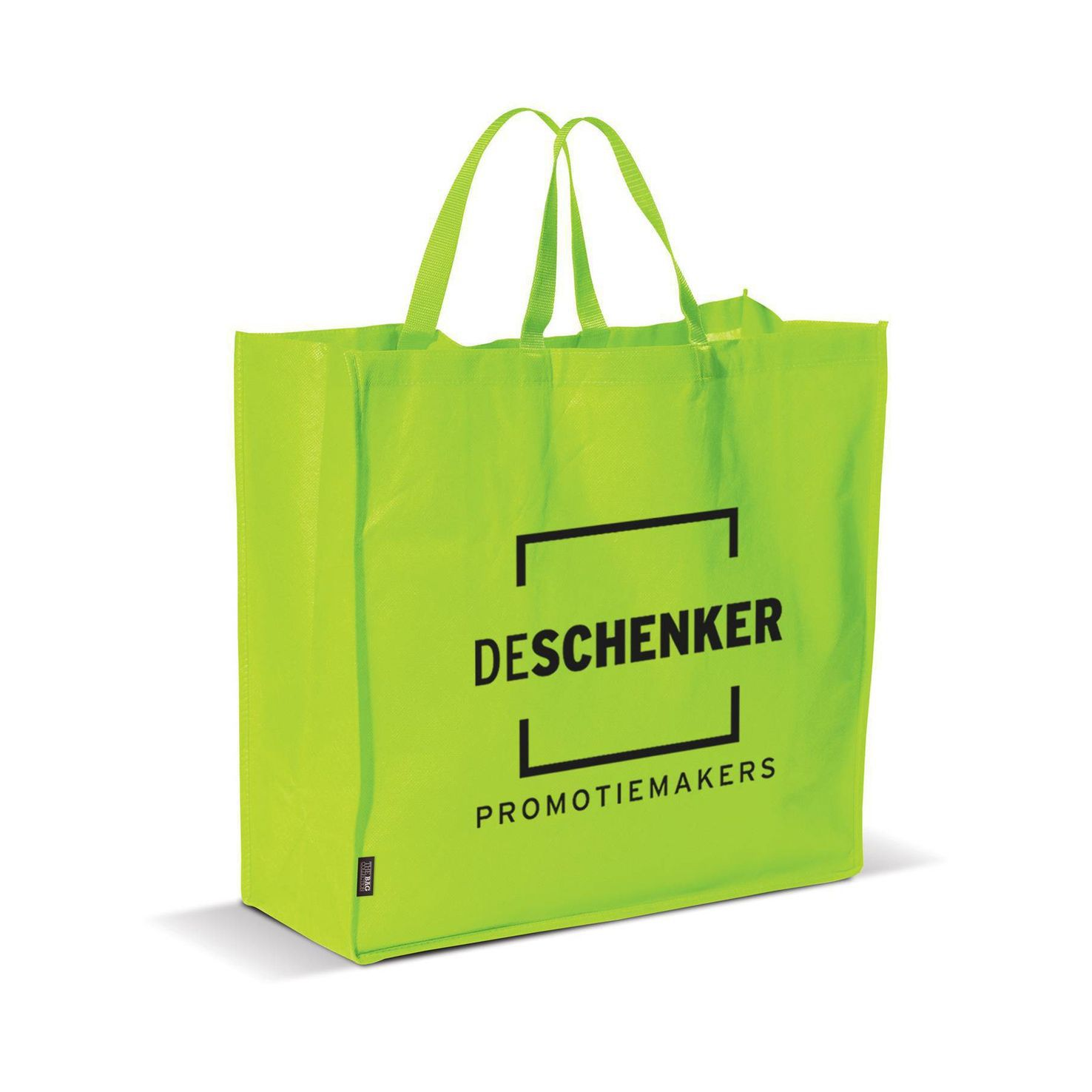 Lichtgroene Big shopper | Non woven | 75 grams