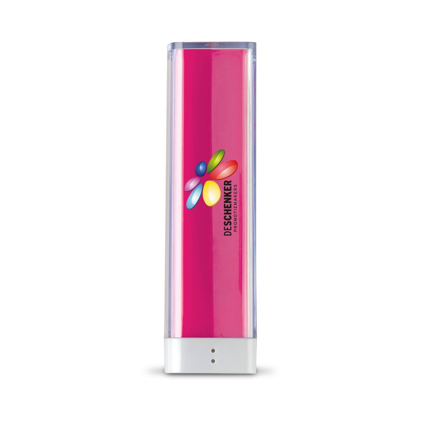 Roze Powerbank | Transparant | 2200 mAh