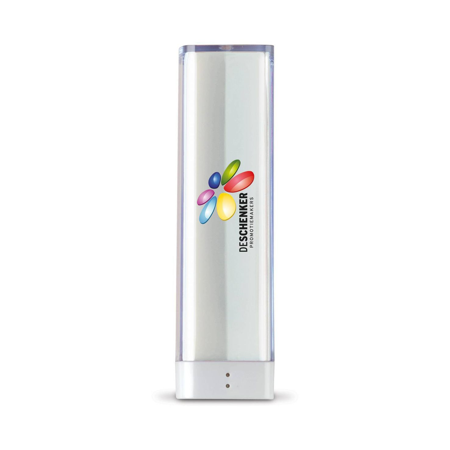 Witte Powerbank | Transparant | 2200 mAh