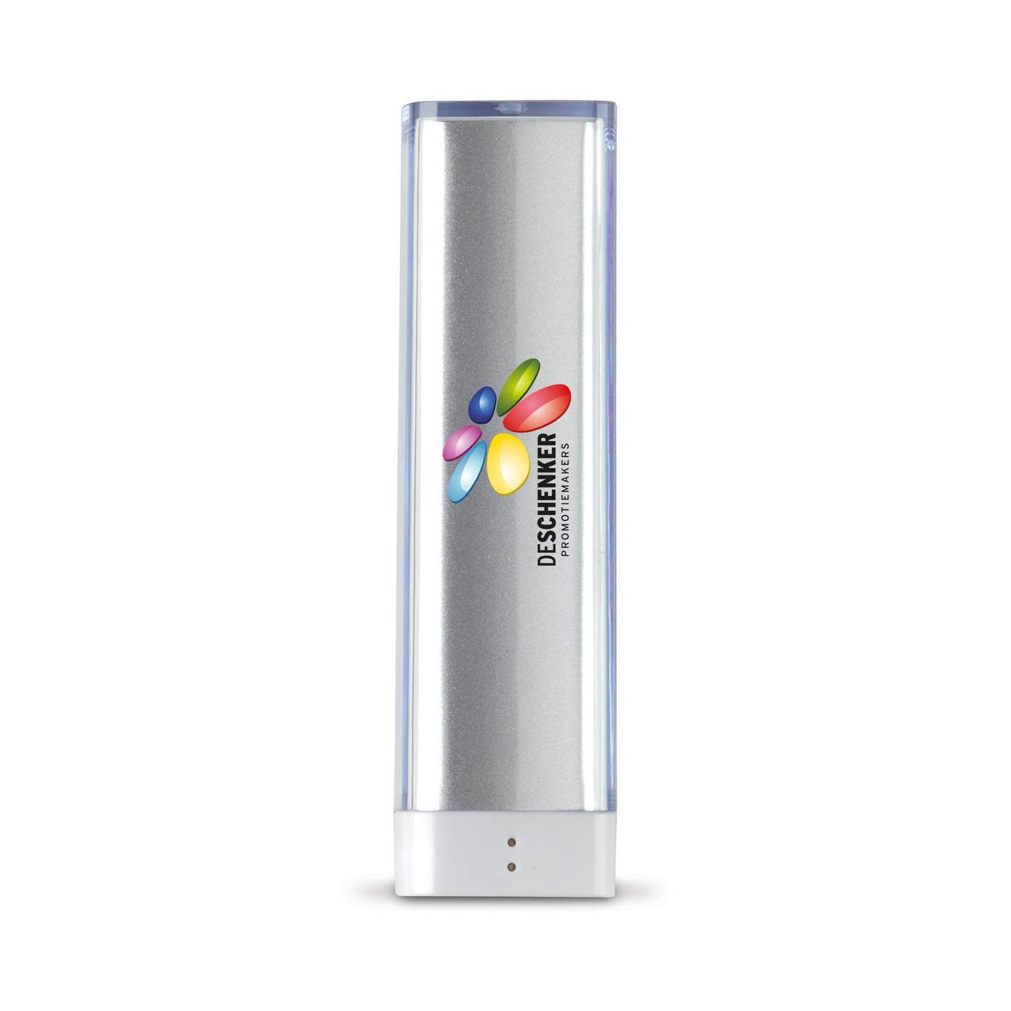 Zilvere Powerbank | Transparant | 2200 mAh