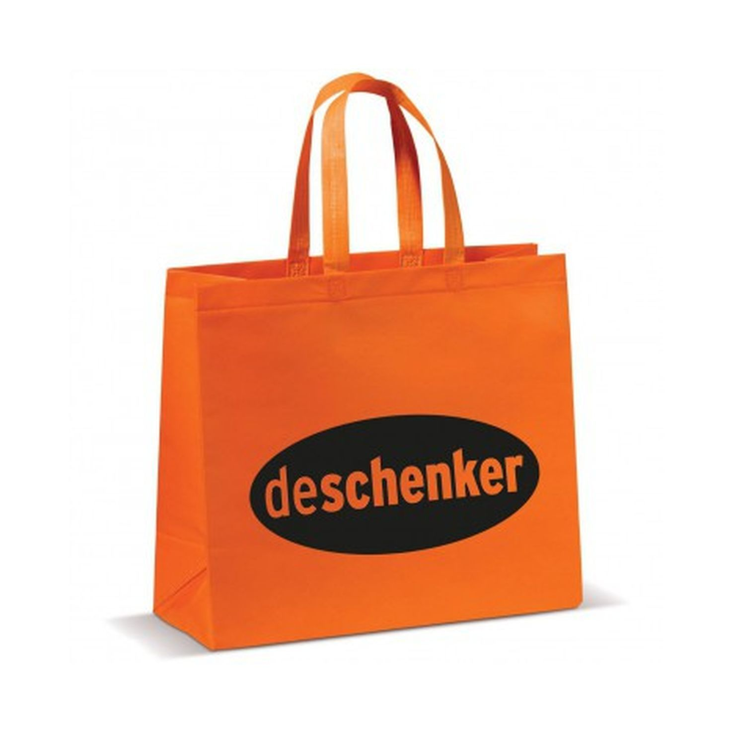 Oranje Shopper groot | Non woven | Gelamineerd