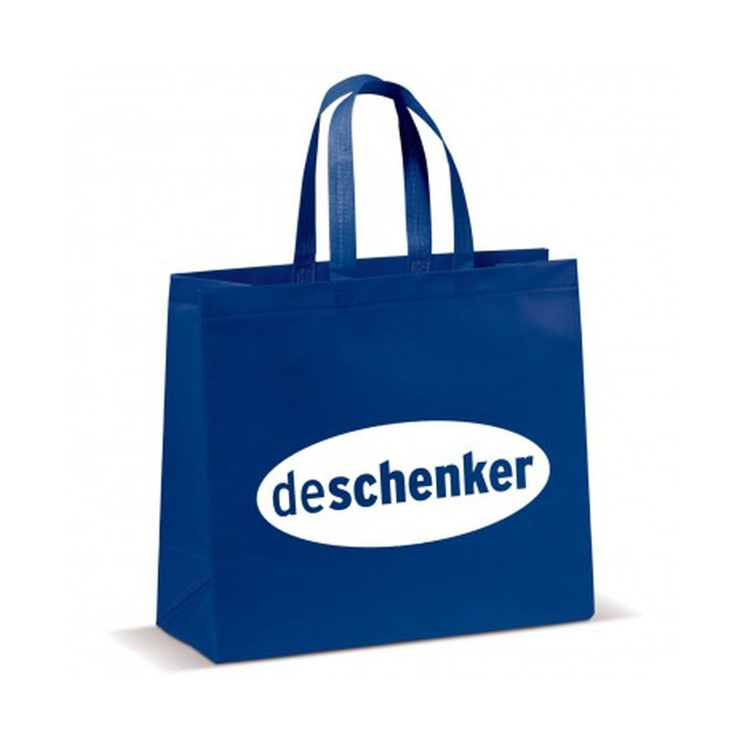 Donkerblauwe Shopper groot | Non woven | Gelamineerd