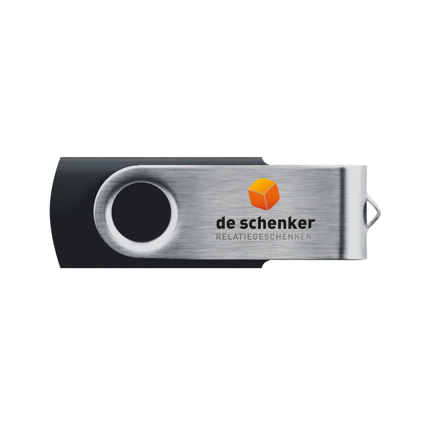 Zwarte USB twister 4GB