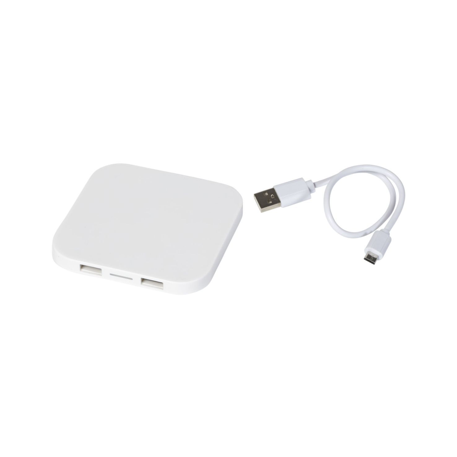 Witte Wireless Charger | 2 USB poorten