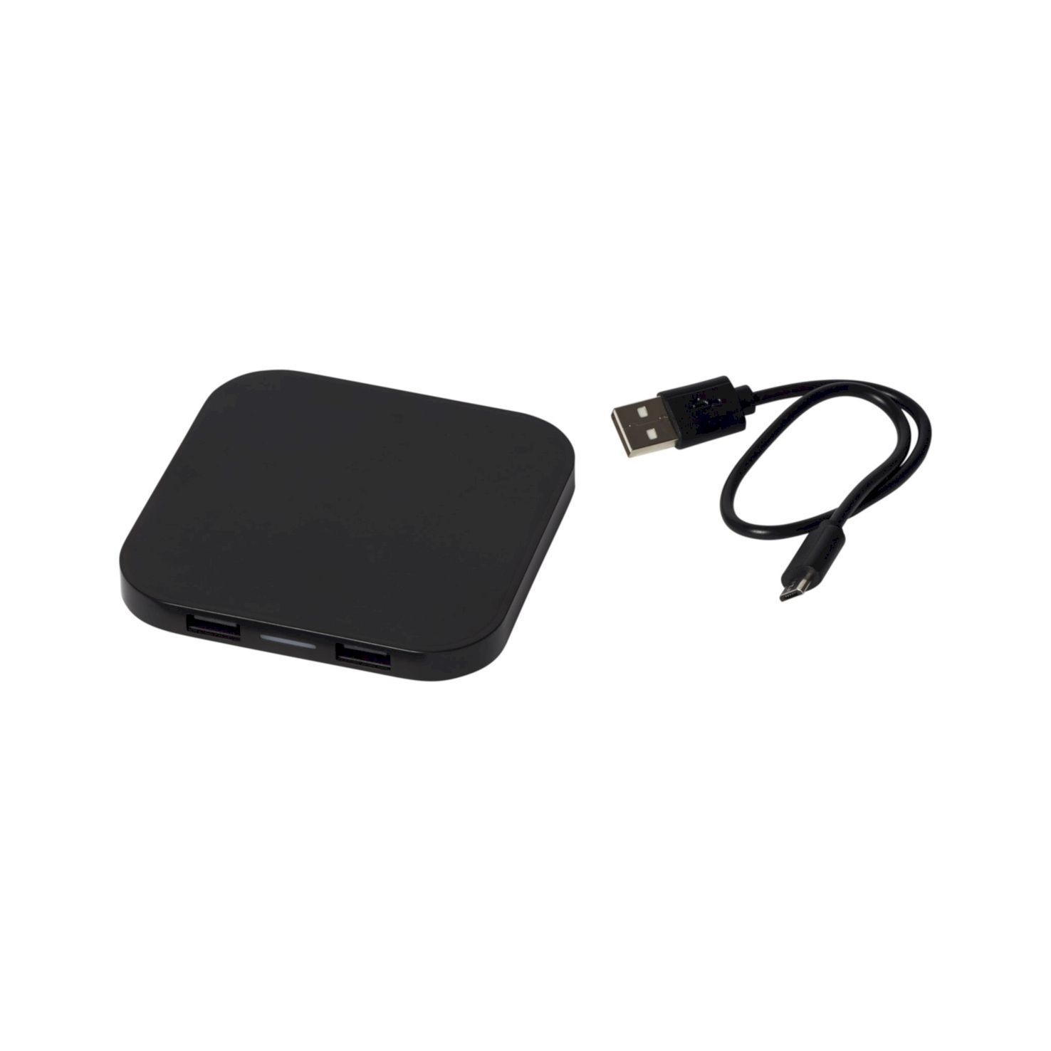 Zwarte Wireless Charger | 2 USB poorten