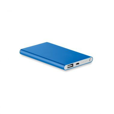 Koningsblauw Powerbank | Plat model | 4000 mAh