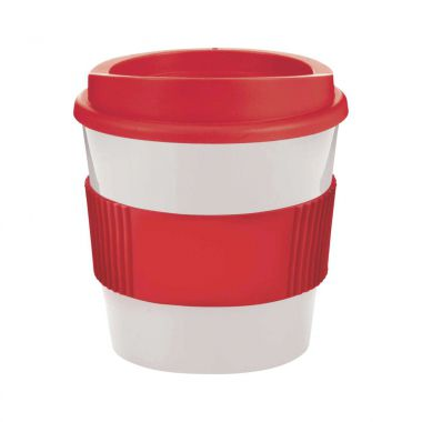 Wit / rood Coffee to go beker | 250 ml