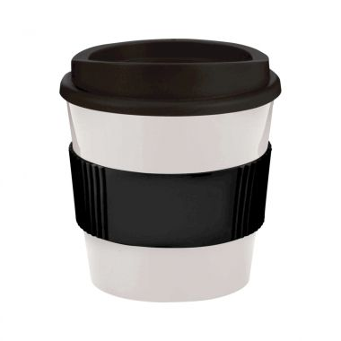 Wit / zwart Coffee to go beker | 250 ml