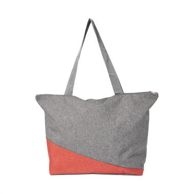 Rode Canvas shopper | Met rits