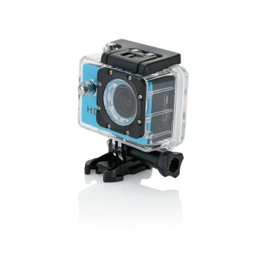 Blauwe Action camera | LCD scherm