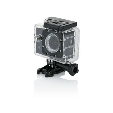 Zwarte Action camera | LCD scherm