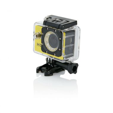 Gele Action camera | LCD scherm