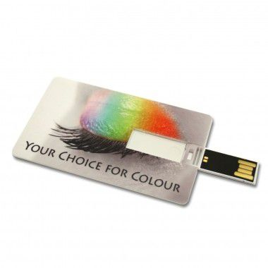 Witte USB creditcard | 2GB