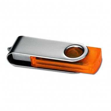 Oranje USB stick transparant 4GB