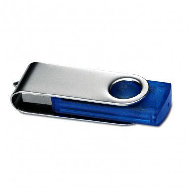 Blauwe USB stick transparant 4GB