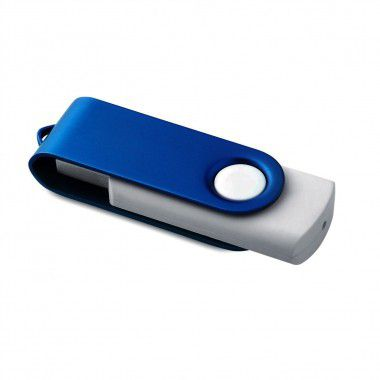 Blauwe USB stick twister 1GB