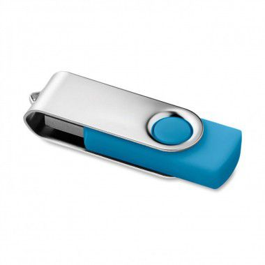 Lichtblauwe USB stick twister 3.0 8GB