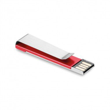 Rode USB stick | Metalen clip | 1GB
