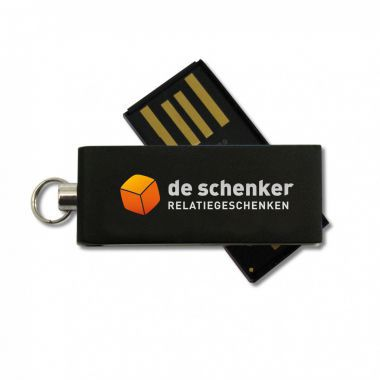 Zwarte Micro USB stick 2GB