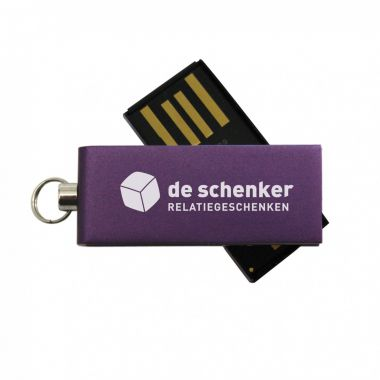 Paarse Micro USB stick 2GB