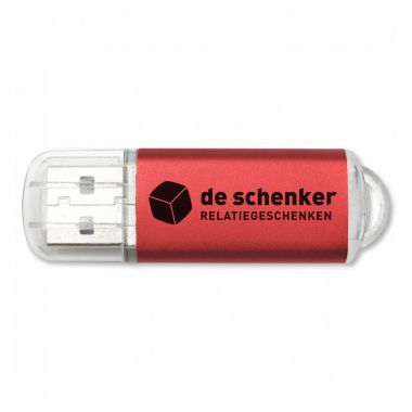 Rode USB stick bedrukken 8GB