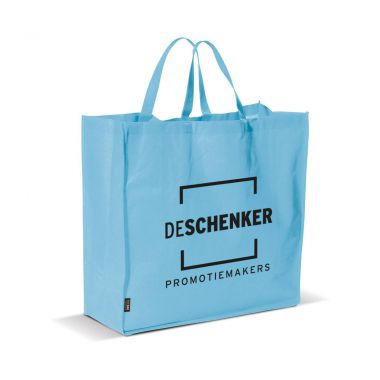 Lichtblauwe Big shopper | Non woven | 75 grams