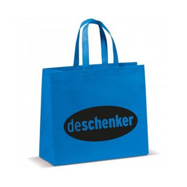 Blauwe Shopper groot | Non woven | Gelamineerd