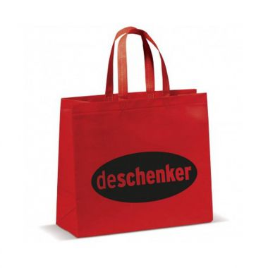 Rode Shopper groot | Non woven | Gelamineerd