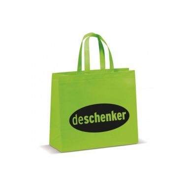 Lichtgroene Shopper groot | Non woven | Gelamineerd